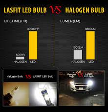 4x lasfit combo led headlight bulbs 9005 hb3 high beam h11 low