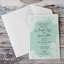 Amazing Wedding Day Invitation With Mint Background White Printed Floral