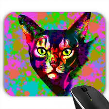 tapis de souris chat psychédélique pop prix pas cher