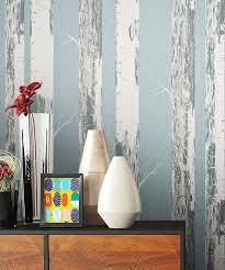 newroom vliestapete blumentapete blau weiß birke wallpaper floral blumen tapete wald pflanzen wohnzimmer schlafzimmer büro flur kaufen otto