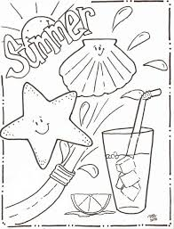 Inspirational Summer Coloring Pages Beach Fun Page