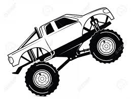 Best Monster Truck Coloring Pages Vector Drawing | Sohadacouri