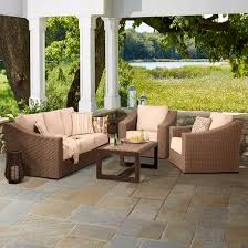 Smith And Hawkins Patio Furniture Cushions by Premium Edgewood 4 Piece Wicker Patio Conversation Set Smith