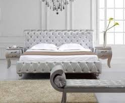 silver leather bed foter