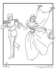 Disneys Cinderella Coloring Pages Cinderellas Wedding Page Cartoon Jr
