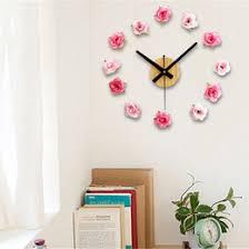 Horloge Mural 3d Achat Vente Pas Cher Floral Wall Stickers En Ligne Promotion Floral