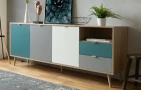 sideboard groß skandi mehrfarbig schrank wohnzimmer kommode