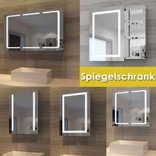 sonni led spiegelschrank 105 x 65 x 13 cm badezimmer spiegel