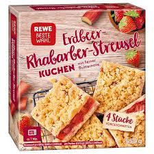 rewe beste wahl erdbeer rhabarber streusel kuchen 550g bei