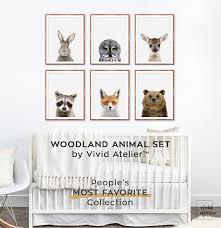 Woodland Creatures Nursery Bedding by Woodland Nursery Set Woodland Nursery Decor Print Set Of 6