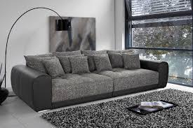 canapé 3 places design noir gris foncé royal
