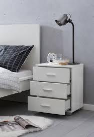 design nachtkonsole wl5 865 weiß 45x54x34cm holz nachttisch hochglanz modernes nachtkästchen mit aufbewahrung kleine schlafzimmer kommode