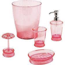Pink Bathroom Sets Walmart by Mainstays 5 Piece Bath Accessory Set Walmart Com