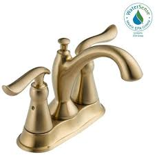 Delta Antique Bronze Bathroom Faucets by Delta Linden 4 In Centerset 2 Handle Bathroom Faucet With Metal