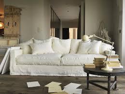 canapé tissu blanc canapé en froissé déco canapé en