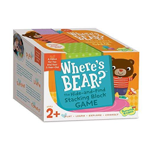 Peaceable Kingdom Where's Bear The Hide-And-Find Stacking Block Game