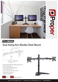 Vesa Desk Mount 100x100 proper dual arm cantilever desk mount for 13