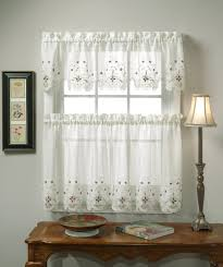 White Kitchen Curtain Patterns How To Hang Intended For Ideas Remodel 9