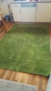 ikea teppich hen 160x230 grün