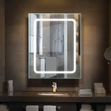 monolith led beleuchteter spiegelschrank bad edelstahl mit
