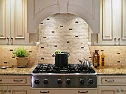 Groutless Subway Tile Backsplash by Kitchen Subway Tiles With Mosaic Accents Backsplash Tumbled Glass
