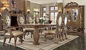 Inland Empire Furnitures Enzo 9 Piece Formal Dining Room Set With Intricate Carvings