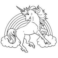 Unicorn Coloring Pages Rainbow