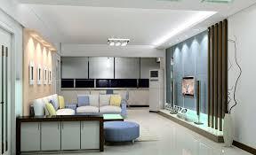 light blue tv wall design for modern minimalist living room
