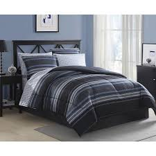 Amazon Blue Gray Striped forter Set Full Size Bedding Set
