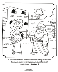 Esther And Mordecai Coloring Page