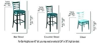Counter Stool Seat Height Bar Heights Measurements For Inspiring Dining Room