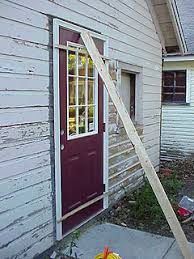 Replacing An Old Wood Entry Door With A New Steel Out Swinging Door