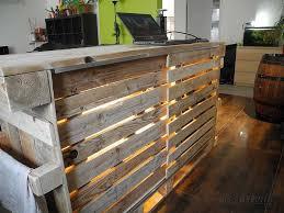 ilot cuisine palette ilot central en palette de bois galerie avec ilot central palette