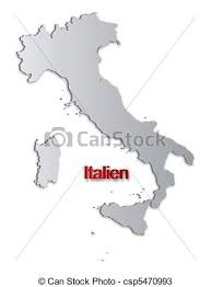 Italy Map A Simple 3d Of Vectors