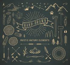 Hand Drawn Rustic Nature Elements Illustrations Creative Market