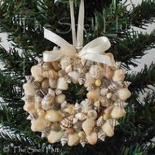 Seashell Christmas Tree Ornaments by Santas Painted On Oyster Shells Collected On Our Vacation At
