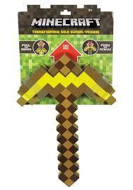 Minecraft Sword Pumpkin Carving Patterns by Minecraft Transforming Sword Pickaxe Gold