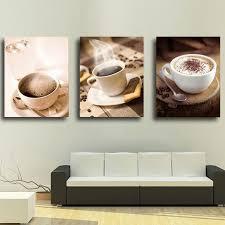 wandbild modern kaffee design ohne rahme im esszimmer