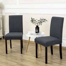 2 Pack Armless Chair Slip Covers For Dining Room Kitchen Slipcovers Soft  Jacquard Home Decor Gray Attractive Small Armchair Slipcover Chair T Cushion 2 Piece Coley White Linen Armless Cisco Brothers Seda With Swivel Essentials Collection And How To Dvd Giveaway Flexsteel Ding Room Side Ca60519 Matter Make Arm Slipcovers For Less Than 30 Howtos Details About Fniture Of America Bord Classic Chairs Set Muse Weathered Pepper Upholstered Parsons 2count Soothing Models With Wing Savile Washed Gray