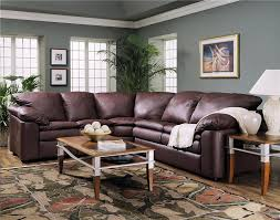 Grey Leather Sectional Living Room Ideas by Legacy Reclining Loveseat And Sleeper Sectional By Klaussner
