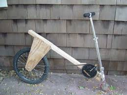 Wooden Bicycle With Razor Scooter Wheel