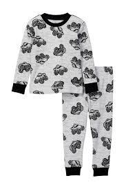 100 Monster Truck Pajamas Petit Lem Pajama Top Bottom 2Piece Set Baby Boys Nordstrom