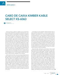Mediagear TESTE KIMBER KABLE SELECT KS 6063