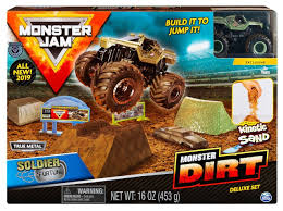 100 Monster Jam Toy Truck Videos Dirt Soldier Fortune Playset Spin Master Wiz