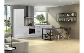 küchenzeile in weiß hochglanz mit passenden esstisch 5900498