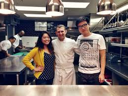 chef de cuisine marseille my and i posing with chef de cuisine shaun gethin after a