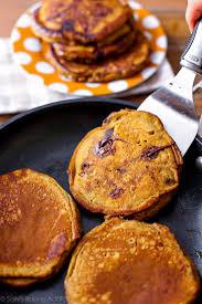 Easy Healthy Pumpkin Pancake Recipe by Pumpkin Chocolate Chip Pancakes Sallys Baking Addiction