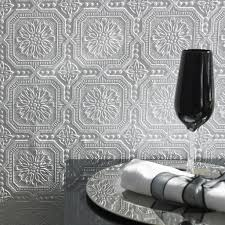 Metallic Tile Effect Wallpaper by Tile Wallpaper Tile Look Wallpaper Graham U0026 Brown Us