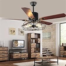 industrial 48 wrought iron style fan semi flush ceiling light