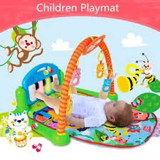3 in 1 Musical Baby Activity Playmat Gym Toy Soft Play Mat Baby
